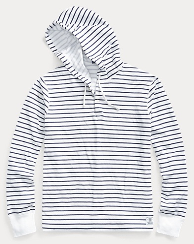 Striped Cotton-Blend Hoodie