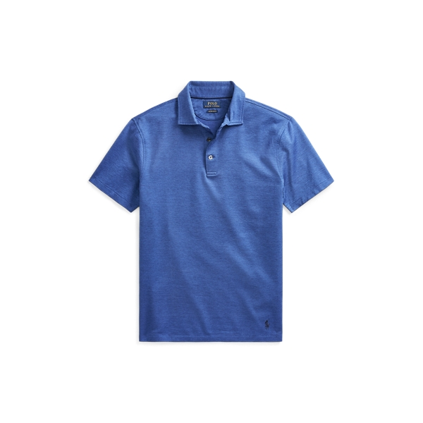 Ralph Lauren Custom Slim Fit Mesh Polo French Navy/Baldwin Blue S