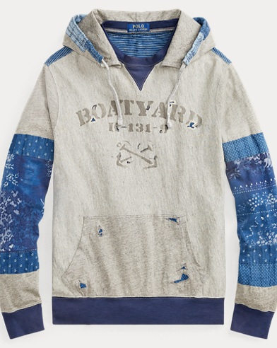 Patchwork Cotton Jersey Hoodie