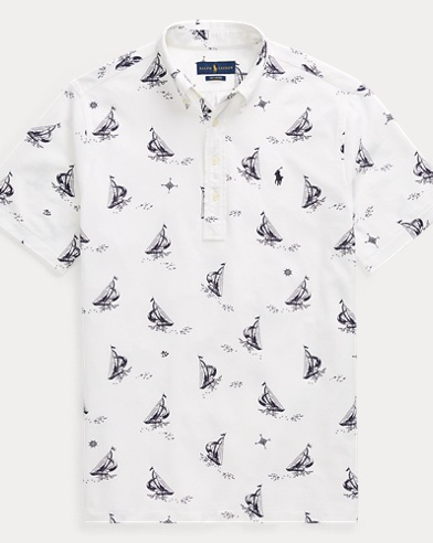 Classic-Fit Piqué-Oxfordhemd