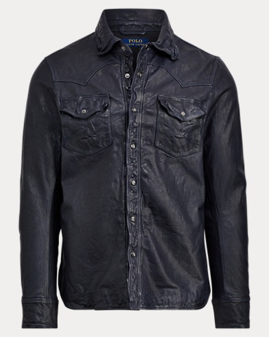 Leather Western Overshirt