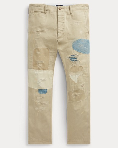 Relaxed Fit Repaired Chino
