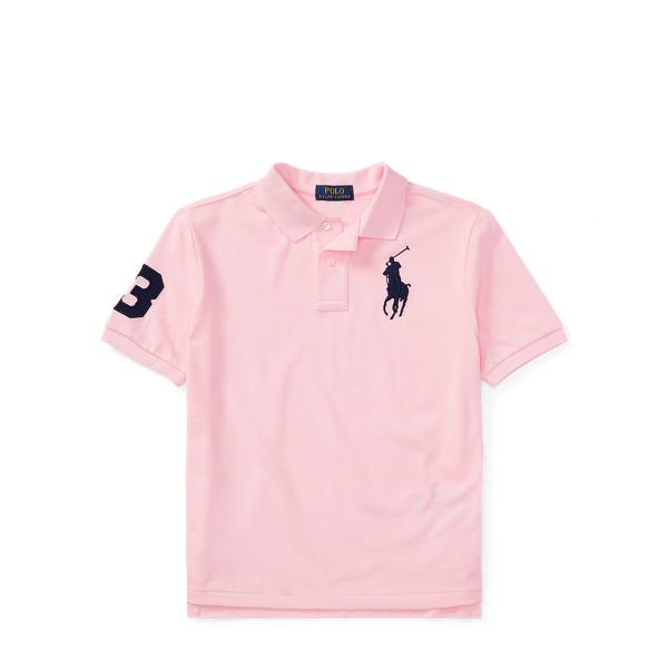 Ralph Lauren Cotton Mesh Polo Shirt Carmel Pink S