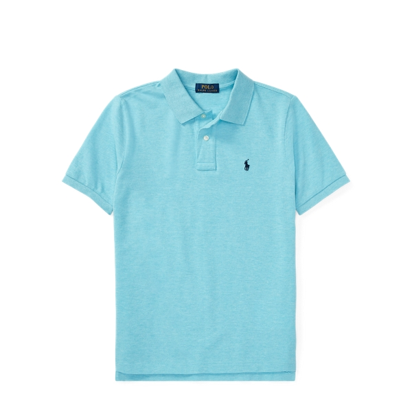 Ralph Lauren Cotton Mesh Polo Shirt Beach Aqua Heather M