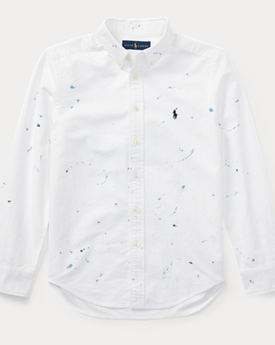 Paint-Splatter Cotton Shirt