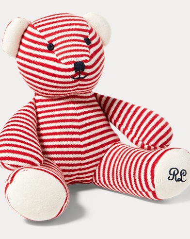 Striped Cotton Plush Bear