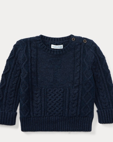 Anchor Cotton Crewneck Sweater