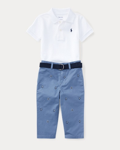 Cotton Polo Belt & Chino Set