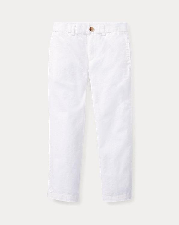 폴로 랄프로렌 남아용 치노 바지 Polo Ralph Lauren Slim Fit Cotton Chino Pant,White