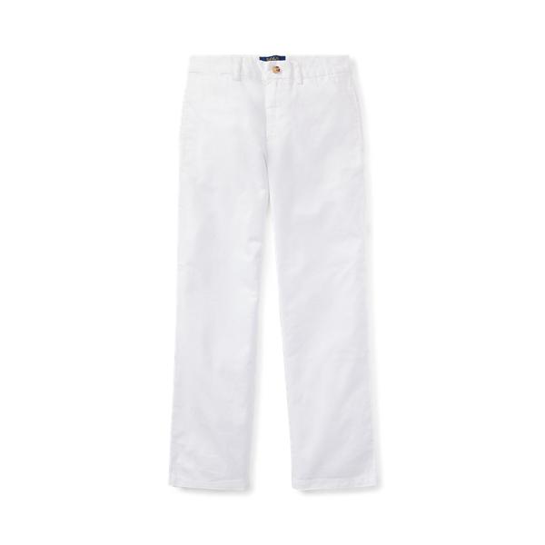 폴로 랄프로렌 보이즈 치노 바지 Polo Ralph Lauren Slim Fit Cotton Chino Pant,White