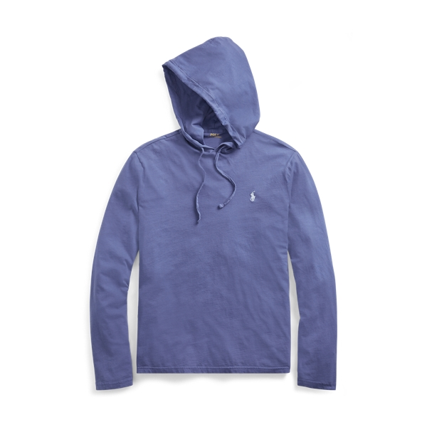Ralph Lauren Cotton Jersey Hooded T-Shirt Haven Blue S