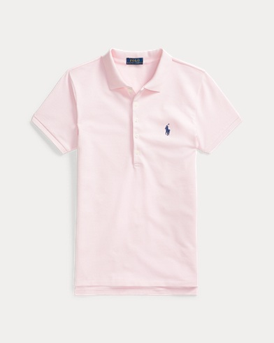 Polo cintré en coton stretch