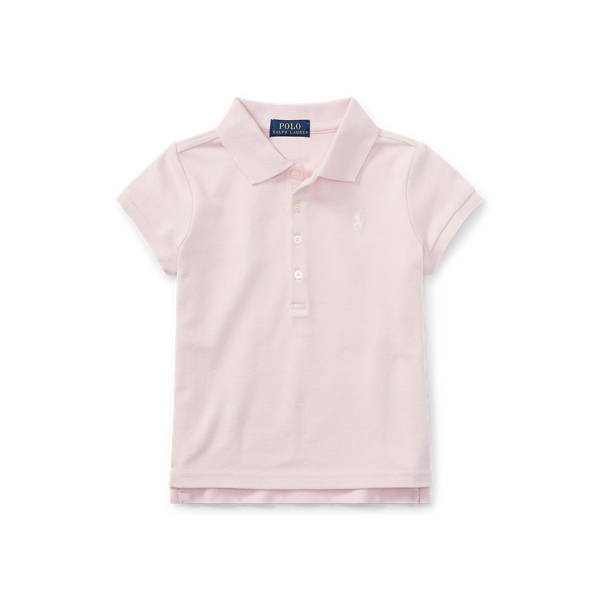 폴로 랄프로렌 여아용 폴로셔츠 Polo Ralph Lauren Cotton Polo Shirt,Bristol Pink