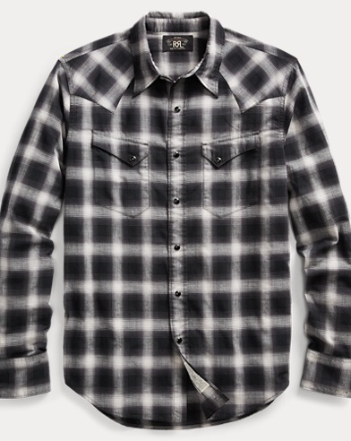 Plaid Cotton Western Shirt