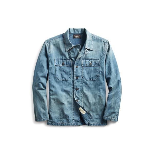 Ralph Lauren Cotton Twill Workshirt Rl 964 Indigo Xl