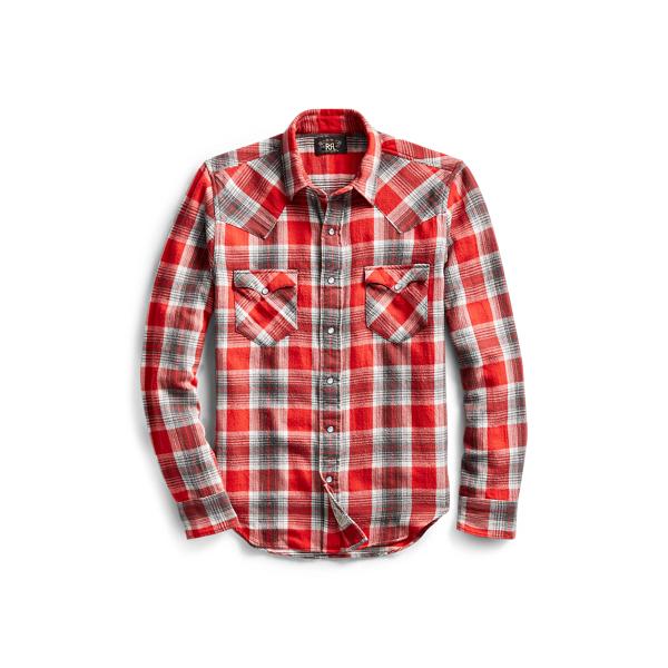 Ralph Lauren Buffalo Cotton Western Shirt Rl 103 Grey Red Xs