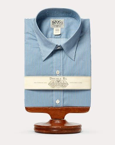 Eli Striped Cotton Dress Shirt
