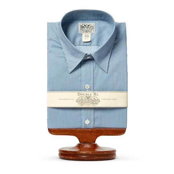 Ralph Lauren Eli Striped Cotton Dress Shirt Rl 977 Blue Navy 17