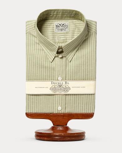 Gestreiftes Anzughemd aus Baumwolle