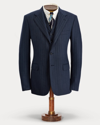 Striped Wool-Blend Suit Jacket