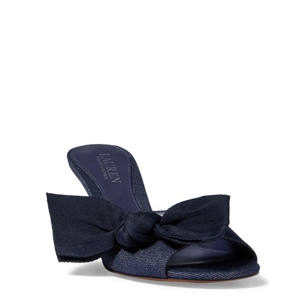 Ralph Lauren Genevie Denim Sandal Dark Blue 11