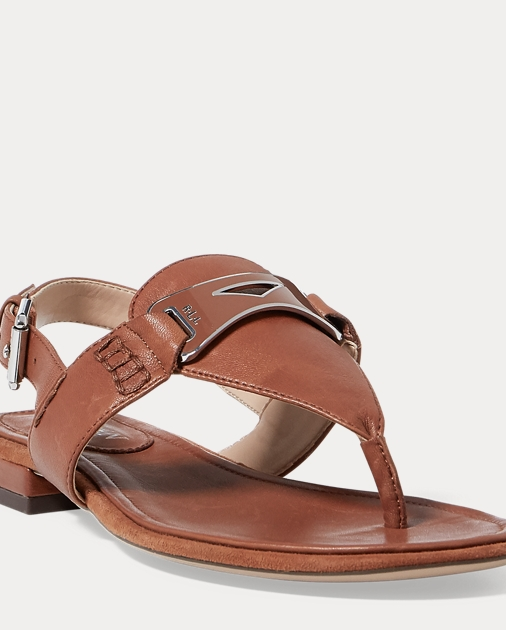 c26124d325d0 Lauren Dayna Leather Thong Sandal 1