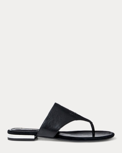 Deandra Leather Thong Sandal