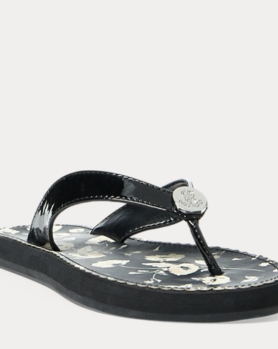 Faux-Leather Sandal