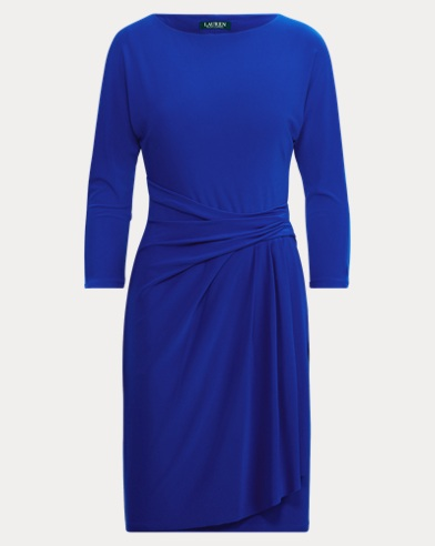 Stretch Jersey Boatneck Dress