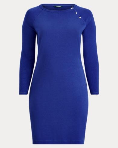 Button-Trim Cotton Dress