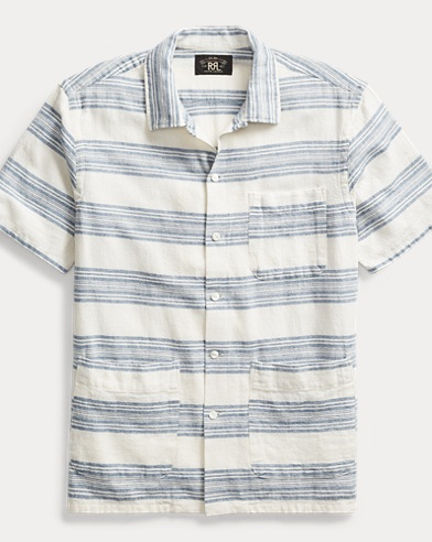 Cotton-Linen Camp Shirt