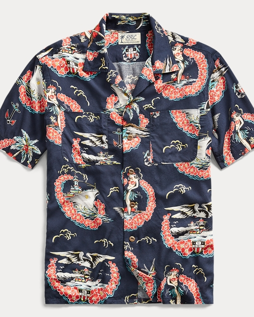 f91adab690 Tropical-Print Camp Shirt