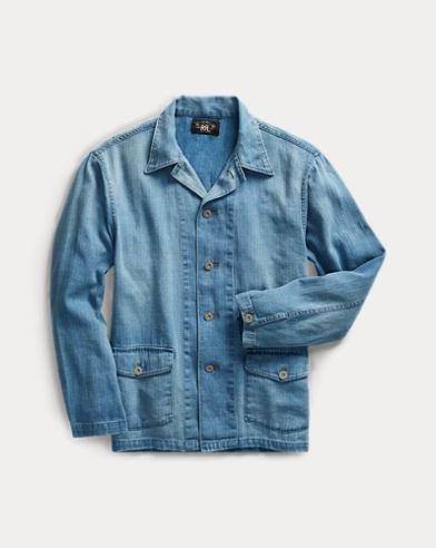 Indigo Linen-Cotton Workshirt