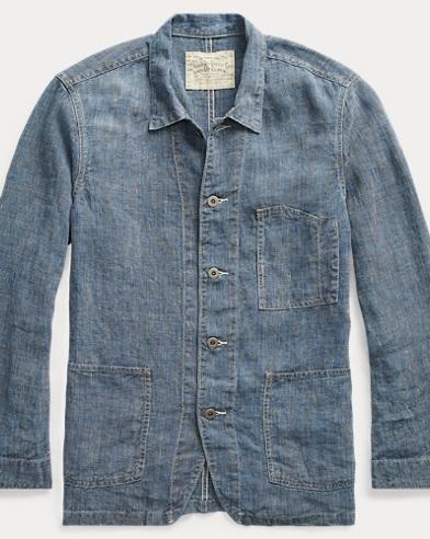 Indigo Linen Jacket