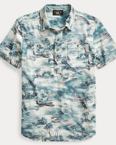 Print Cotton Jersey Workshirt