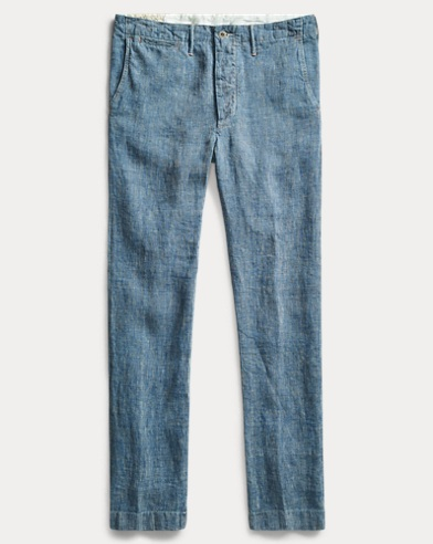 Straight Fit Linen Pant
