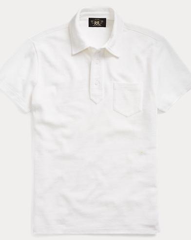 Jacquard-Knit Cotton Polo