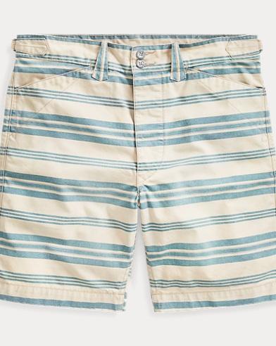 Striped Cotton Canvas Short