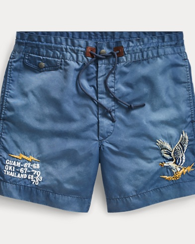 Embroidered Twill Short