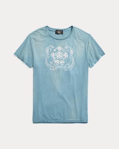 Indigo Cotton Graphic T-Shirt