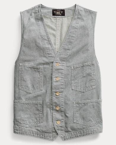 Striped Indigo Cotton Vest