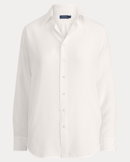 fbd2a7208 Polo Ralph Lauren Silk Crepe Button-Down Shirt 1