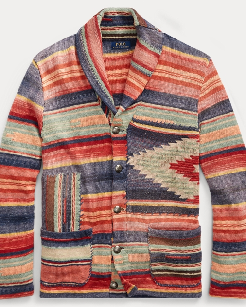 a145c3b752207 Polo Ralph Lauren Patterned Shawl Cardigan 2