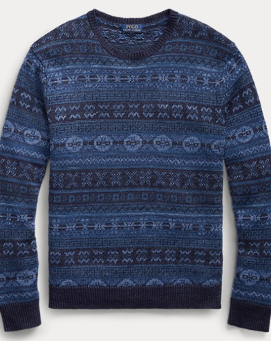 Fair Isle Linen-Cotton Sweater