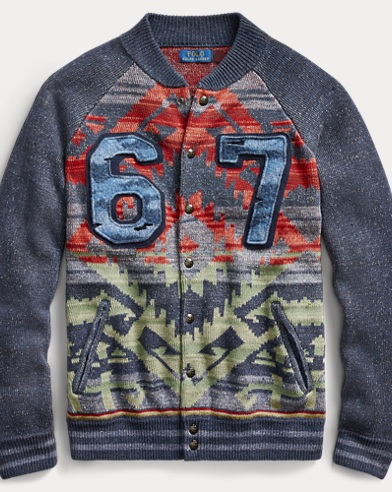 Snap-Front Baseball Sweater