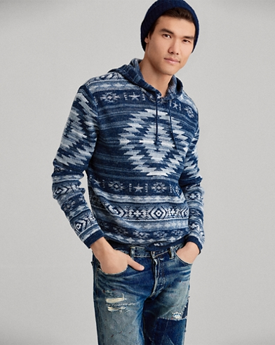 Cotton-Blend Hooded Sweater