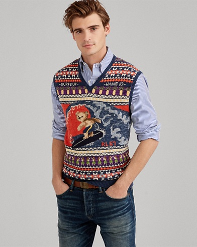 Gilet Surfer Bear in misto cotone