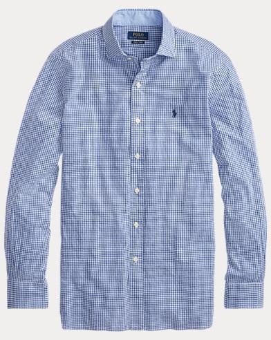 Classic-Fit Sporthemd aus Baumwolle