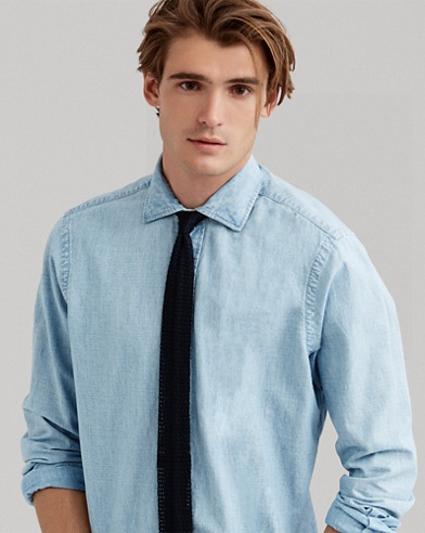 Camicia in chambray Classic-Fit