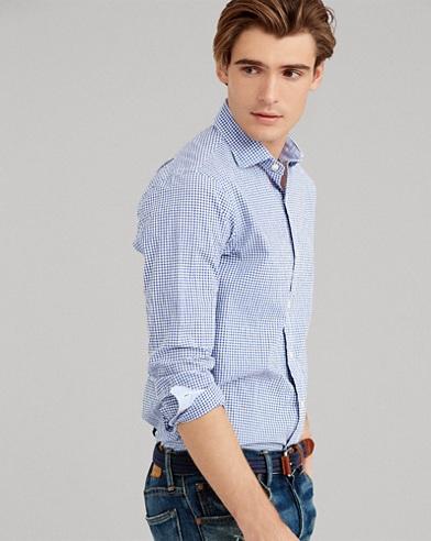 Slim Fit Plaid Shirt